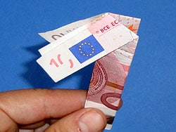 Geldschein falten