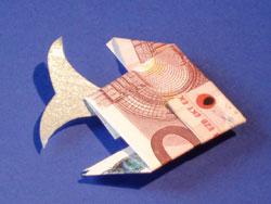 Fische Aus Geldscheinen Falten Basteln Gestalten