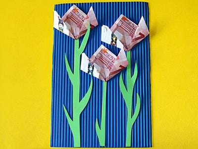 Geld Blumen Basteln Basteln Gestalten
