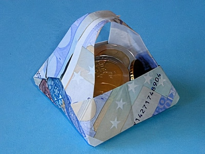 Geld-Körbchen basteln