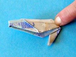 tasche falten aus geld