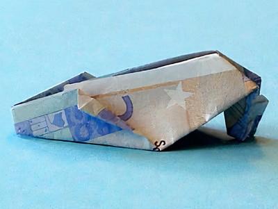 Geldgeschenke basteln: Geldgeschenk für Schuhe zum