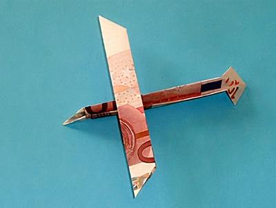 Ein Geld Segelflugzeug Basteln Gestalten