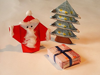 Lisas Erster Weihnachtsbaum.Ein Weihnachtsbaum Aus Geldscheinen Basteln Gestalten