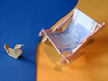 Miniatur Liegestuhl Basteln.Ein Geldgeschenk Basteln Basteln Gestalten