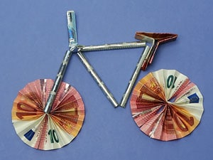 geld fahrrad falten