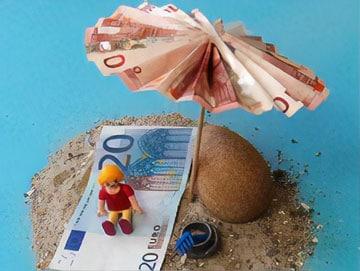 Ein Geldgeschenk als Sonnenschirm - Basteln -amp; Gestalten