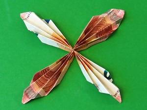 Schmetterling aus Geld