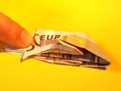 Geldscheine falten