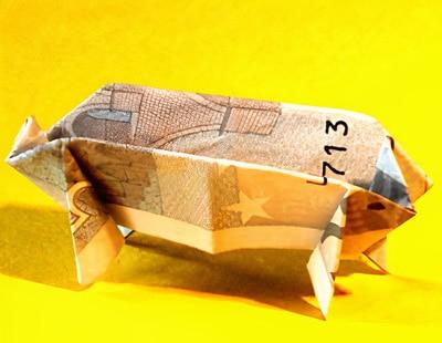 Schweinchen für lustige Geldgeschenke  Basteln & Gestalten