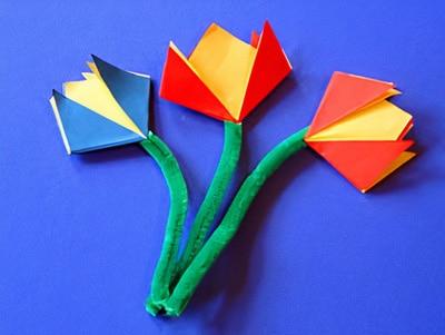 Eine Kinderleichte Blume Falten Basteln Gestalten