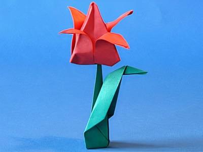 Blumen Aus Papier Basteln hübsche blumen falten basteln gestalten