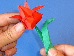Hübsche Blumen Falten Basteln Gestalten