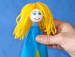 Klammer Puppe basteln