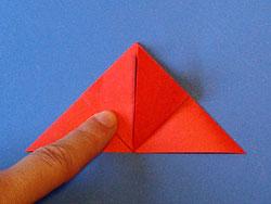 Schritt 8: zur oberen Ecke falten