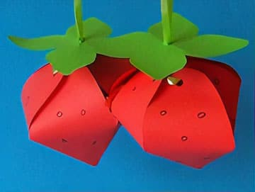 Erdbeeren Basteln Im Sommer Basteln Gestalten