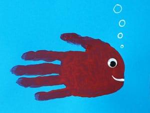 Fisch aus Handabdruck