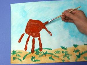 Pferd aus Handabdruck