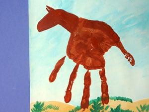 Handabdruck Pferde