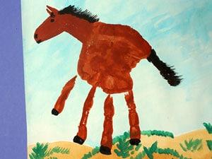 Pferd malen