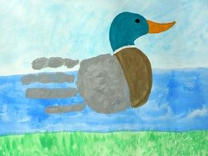 Handprint Ente