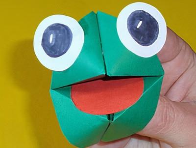 Handpuppe - Frosch