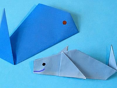 einen Delfin basteln