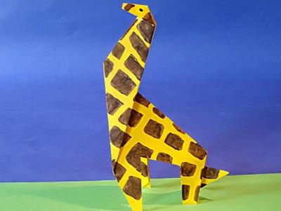 eine Giraffe basteln