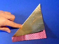 Schritt 2: Diagonale falten