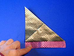 Schritt 3: andere Diagonale falten
