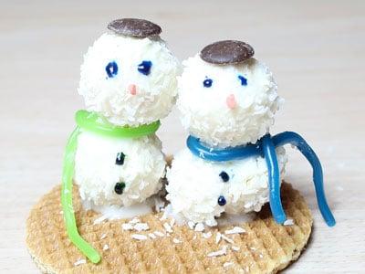 Leckere Schneemänner
