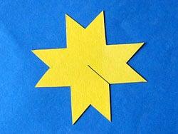 Bastelanleitung für einen Stern Anhänger