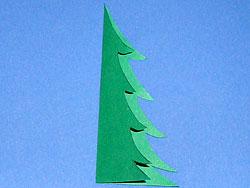 Bastelanleitung für einen Tannenbaum