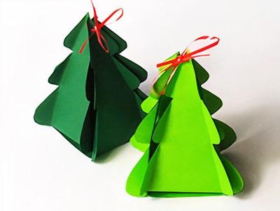 Tannenbaum aus Papier