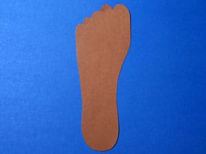 Fuß ausschneiden