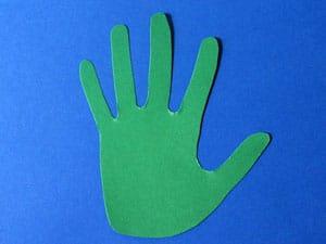 Hände ausschneiden