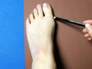 Fuß zeichnen