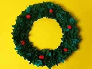 Fertiger Weihnachtskranz