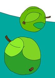 Malvorlagen - Äpfel