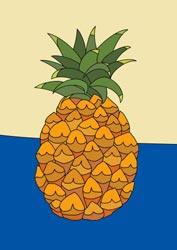 Malvorlagen - Ananas