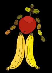 Malvorlagen - Bananen Figur