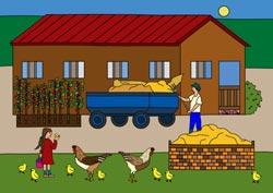 Ausmalbilder - Ferien auf dem Bauernhof