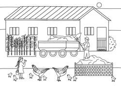 Malvorlagen - Ferien auf dem Bauernhof