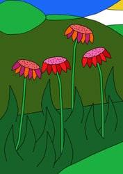 Malvorlage Blumen