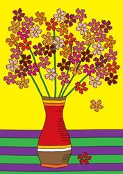 Malvorlagen Blumenvase
