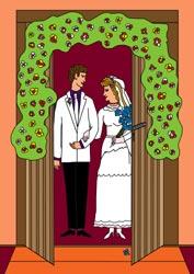 Malvorlagen - Brautpaar