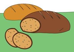 Malvorlage Brot
