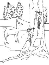ausmalbild tiere im winter