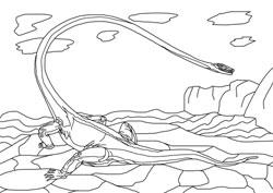 ausmalbilder - dinosaurier 7 | basteln  gestalten