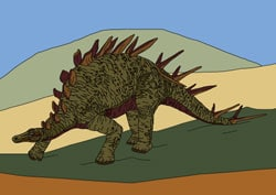 Malvorlage - Dino